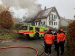 Brand Urdorf ZH - Menschen und Tiere gerettet