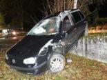 Unfall Grosswangen LU - Auto überschlägt sich