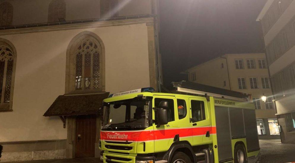 Winterthur ZH: Brand in der Stadtkirche