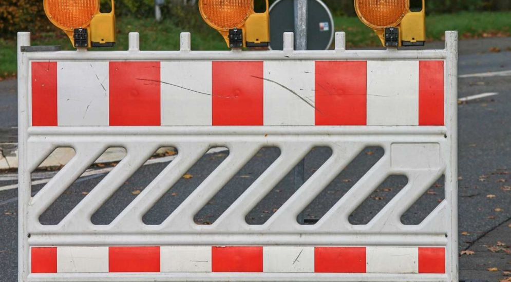 Weinfelden TG - Wilerstrasse wegen Sanierung gesperrt
