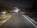Unfall Rossens FR - Motorradfahrer (17) unter Auto eingeklemmt