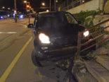 Reussbühl LU: Autofahrer flüchtet vor Polizei und baut Unfall