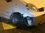 Selbstunfall in Ebikon LU - Lieferwagenlenker war angetrunken