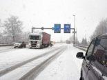 Verkehrsbehinderungen aufgrund des Wintereinbruchs auf Obwaldner Strassen