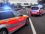 A2 Luzern: Unfall beim Tunnel Eich: Autobahn gesperrt