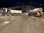 Cham ZG: Zwischen zwei Lastwagen eingeklemmt lebensbedrohlich verletzt