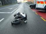 Dierikon LU: Motorradfahrer bei Unfall verletzt