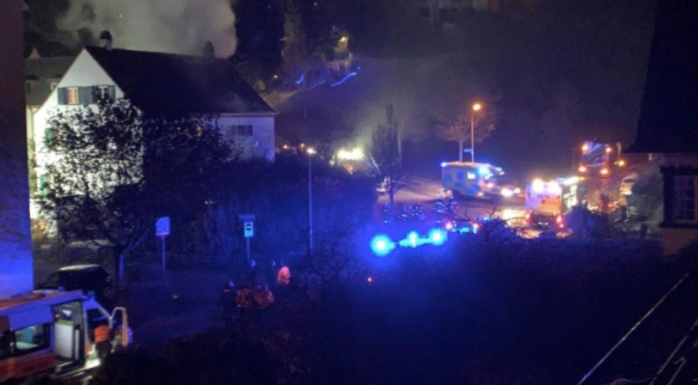 Brand in Winterthur: Frau stirbt, Mann lebensbedrohliche verletzt