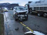 Laupersdorf SO - Heftiger Unfall zwischen zwei Lieferwagen