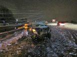 A3, Niederurnen GL: Unfall auf schneebedeckter Fahrbahn
