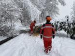 Schneefälle in Winterthur: Massives Einsatzaufkommen