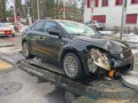 Unfall Frauenfeld TG - Autofahrerin (35) unverschuldet mit Inselschutzpfosten kollidiert