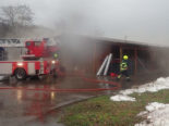 Weinfelden TG - Feuer in Lagerhalle