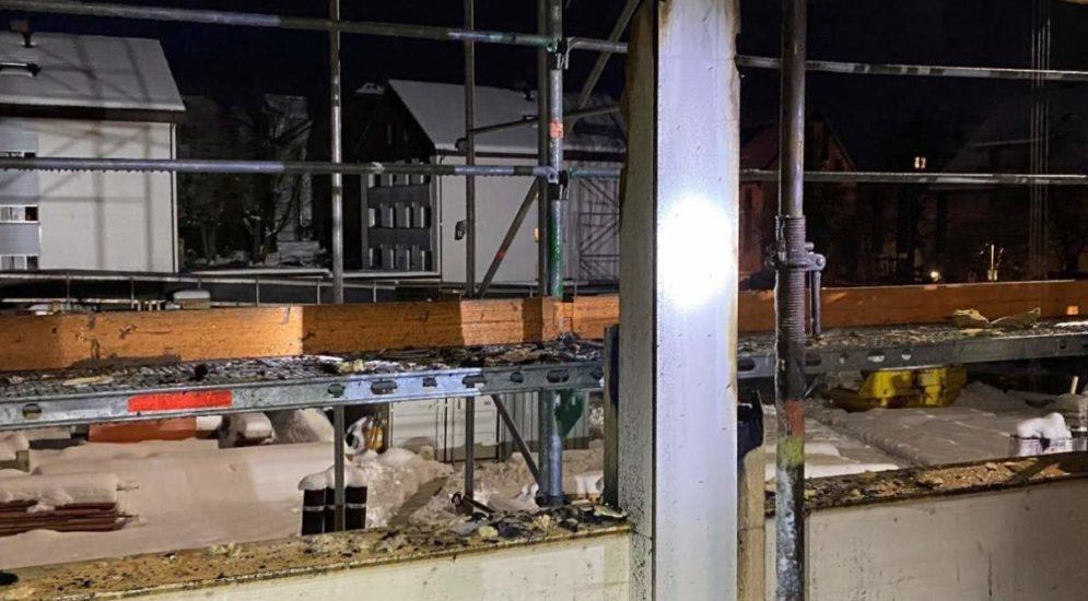 Aadorf TG: Mottbrand auf einer Baustelle