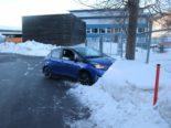 Unfall Appenzell AI - Lenkerin kracht alkoholisiert in Schneehaufen
