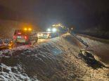 Menzingen ZG: Bei Unfall Böschung hinunter gerutscht und überschlagen