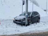 Kanton Zug: Sieben Unfälle auf schneebedeckten Strassen