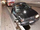 Unfall A3 Murg SG - Wegen Sekundenschlaf heftig in Notnische geprallt