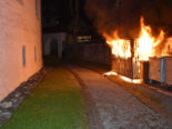 Stans NW - Abfallunterstand in Vollbrand