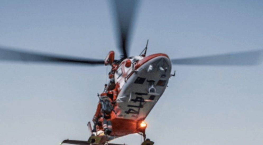 Unfall Bürchen VS - Mann schwer verletzt ins Spital geflogen