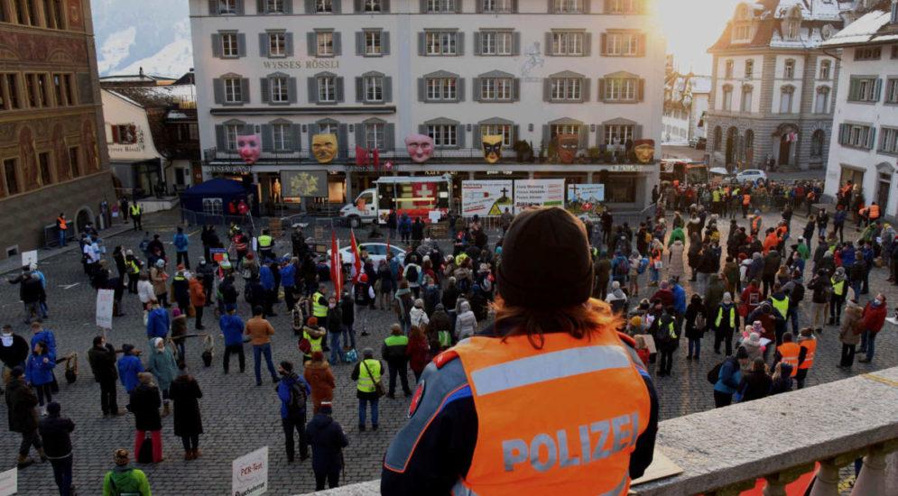 Schwyz: Kundgebung verläuft ohne Zwischenfälle