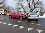 Unfall Staad SG - Zwei Verletzte bei heftiger Kollision