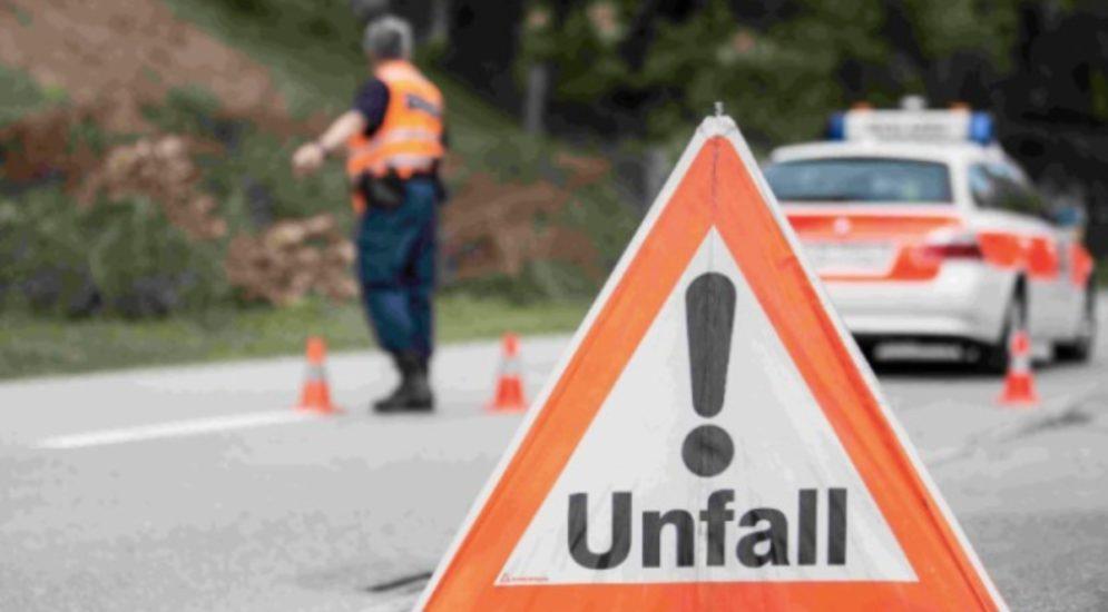 Basel A2 - Stau wegen Unfall auf Autobahn