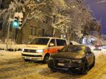 Unfall St.Gallen SG - Autofahrer (29) mit Bus und Patrouillenfahrzeug kollidiert
