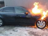 Waldkirch SG - Auto fängt Feuer