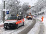 Stadt St.Gallen: Schnee bringt Unfälle und Verkehrsbehinderungen