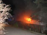 Brand Fehren: Einfamilienhaus in Flammen