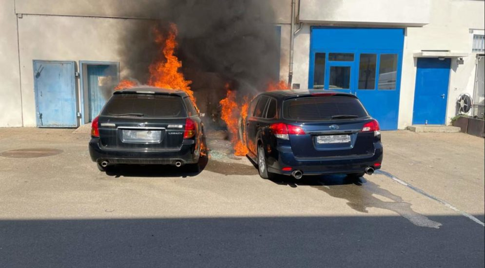 Aesch BL - Doppelter Totalschaden nach Brand