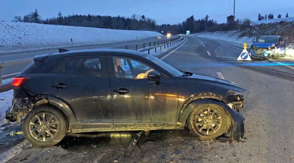 Sirnach TG: Unfall auf der A1 wegen eines Sekundenschlafs