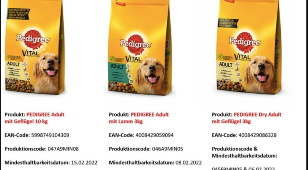 Schweiz: Produkterückruf - Pedigree Hundefutter