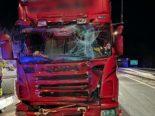 A2, Göschenen: Heftiger Unfall zwischen zwei Lastwagen