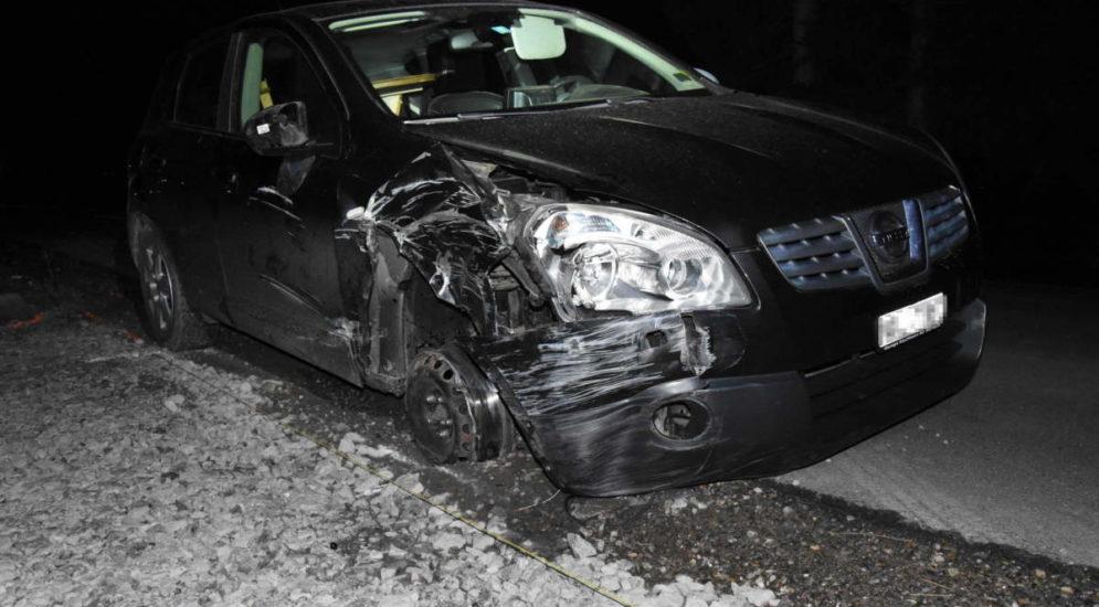 Unfall Diepoldsau SG: Fahrunfähig gegen Steinmauer geprallt