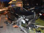 Heftiger Unfall Stansstad NW: Auto kracht in Bushaltestelle