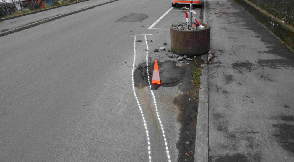 Unfall Rorschacherberg SG: Fahrunfähig Crash gebaut und weitergefahren