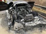 Sevelen: Fahrzeugbrand