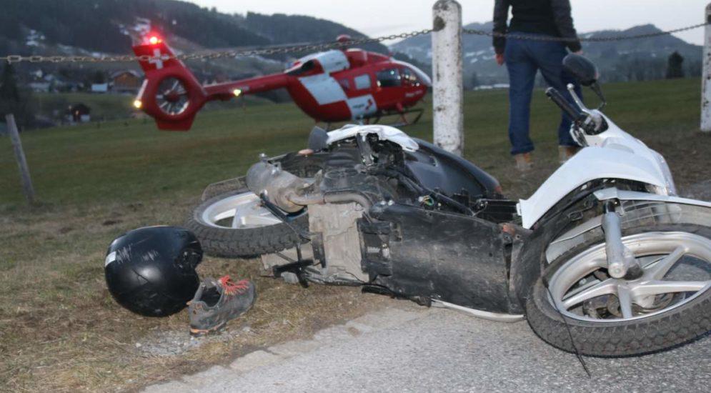 Unfall Steinegg AI: 16-Jähriger mit Rega ins Spital geflogen