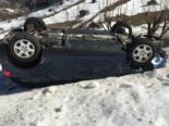Unfall Matt GL: Von Handy abgelenkt Zaun durchbrochen und auf Dach gelandet