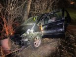 Unfall Obersiggenthal AG - 2,3 Promille Fahrt von Baum gestoppt