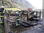 Erstfeld: Schuppen komplett niedergebrannt