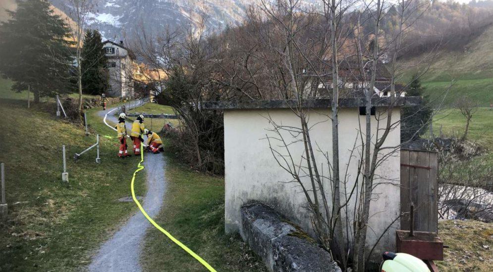 Feuerwehreinsatz ein Riedern GL