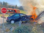 Sulgen: Autobrand nach Verkehrsunfall