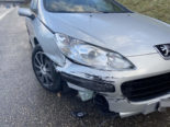 Unfall A3 Eiken AG: Mit grosser Wucht in Leitplanke geprallt