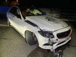 Würenlos AG: Mercedes S-AMG nach Unfall auf A1 mit Totalschaden