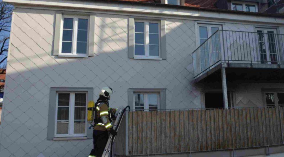 Niedergösgen SO: Brand in Mehrfamilienhaus an der Hauptstrasse
