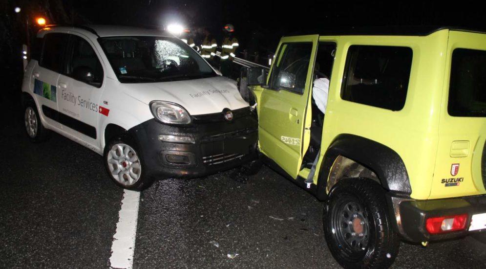 Unfall Enggenhütten / Appenzell AI: Frontalcrash mit Lernfahrer