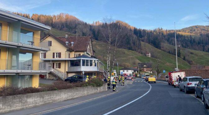 Oberägeri ZG - Feuerwehreinsatz nach Reparaturarbeiten